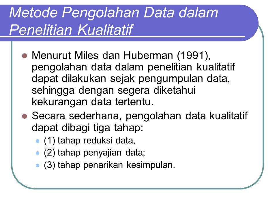 Metode Pengolahan Data dalam Penelitian Kualitatif