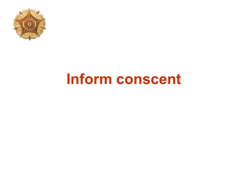 Inform conscent