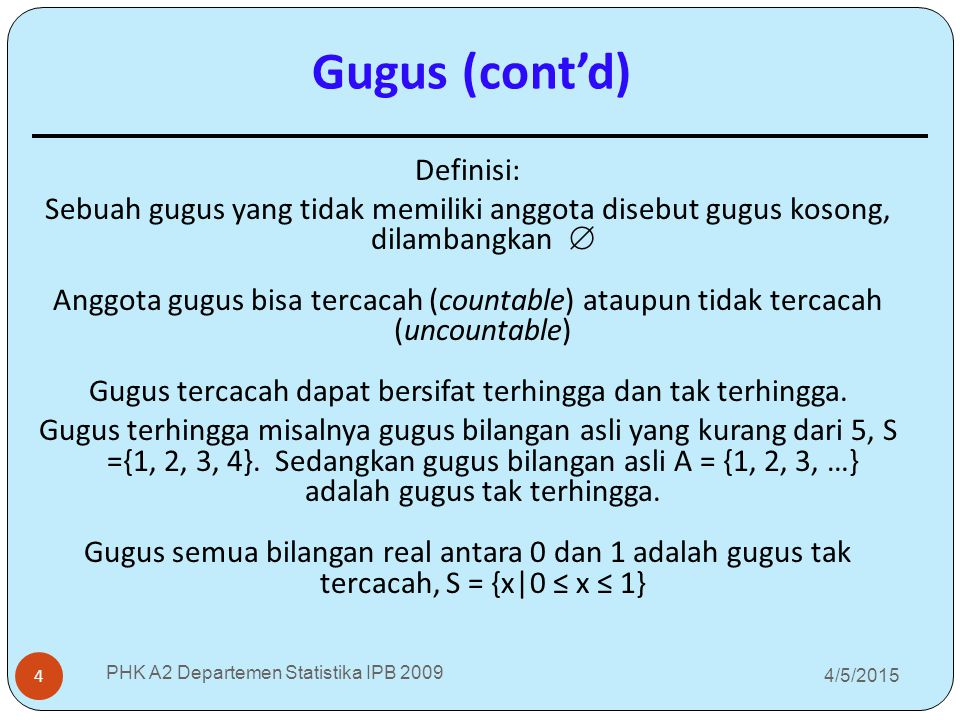 Gugus (cont'd)