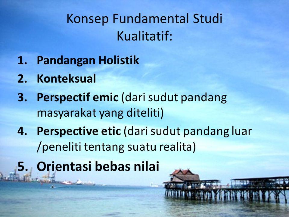 Konsep Fundamental Studi Kualitatif: