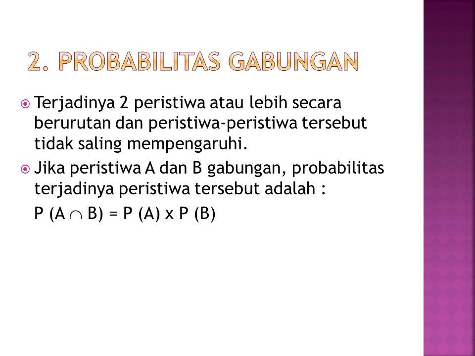 2. Probabilitas Gabungan