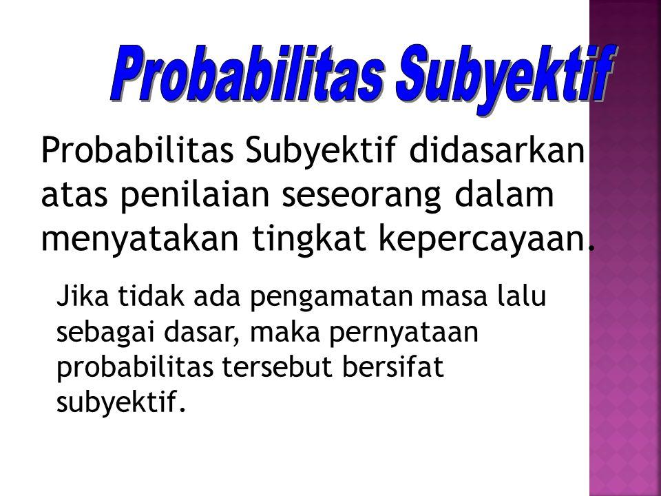 Probabilitas Subyektif