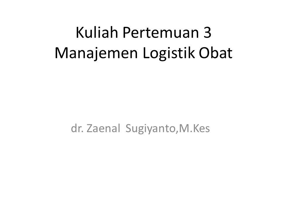 Kuliah Pertemuan 3 Manajemen Logistik Obat