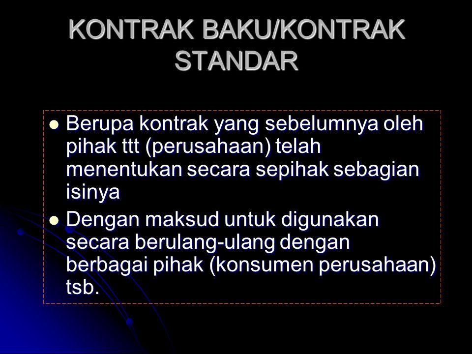 KONTRAK BAKU/KONTRAK STANDAR