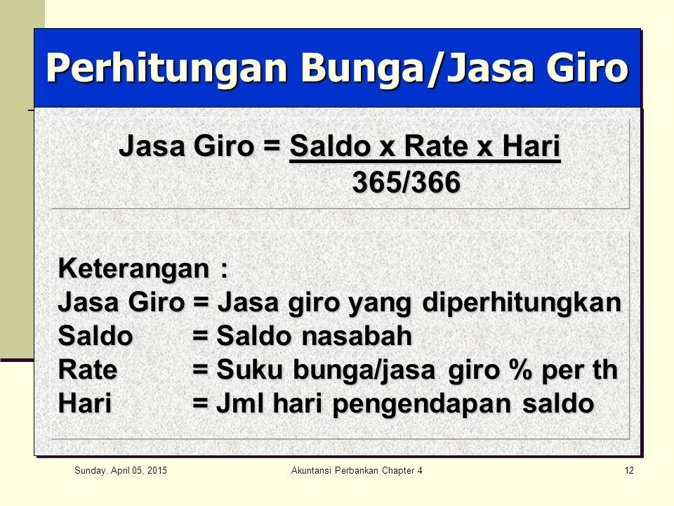 Perhitungan Bunga/Jasa Giro