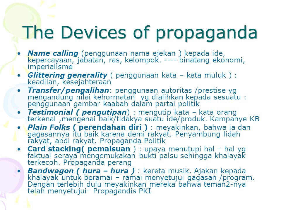 The Devices of propaganda