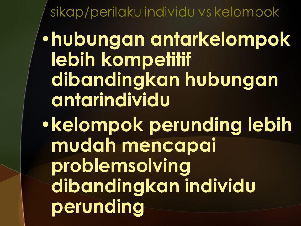 sikap/perilaku individu vs kelompok