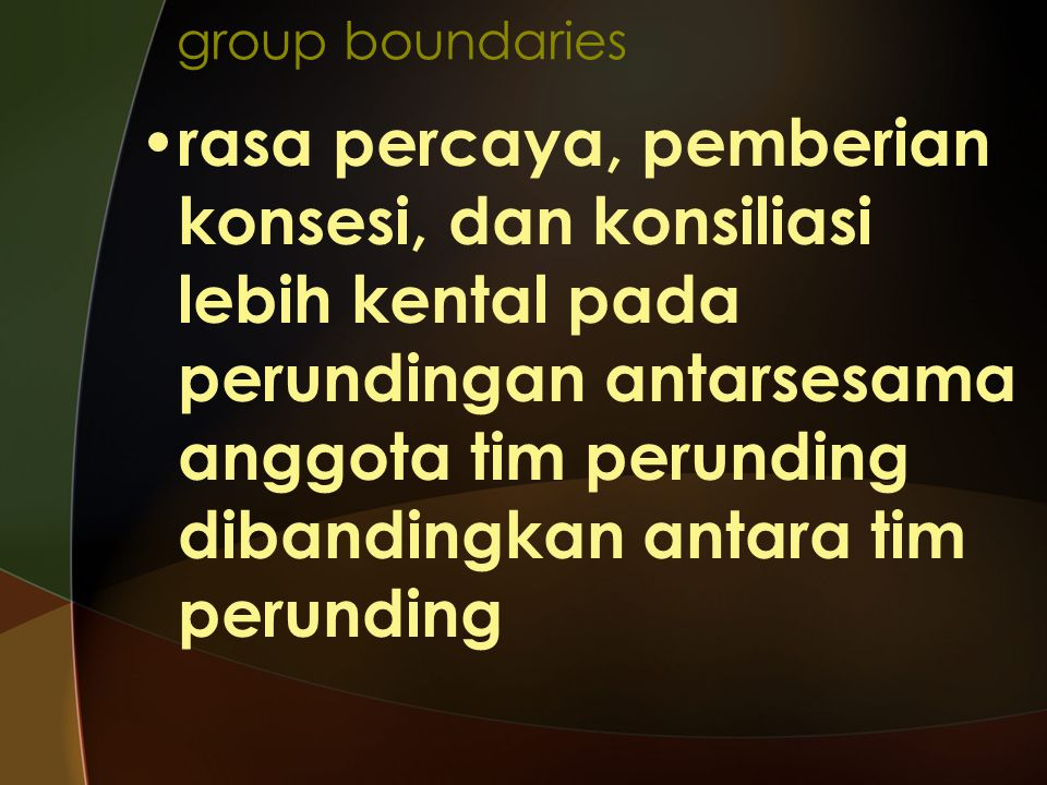 group boundaries