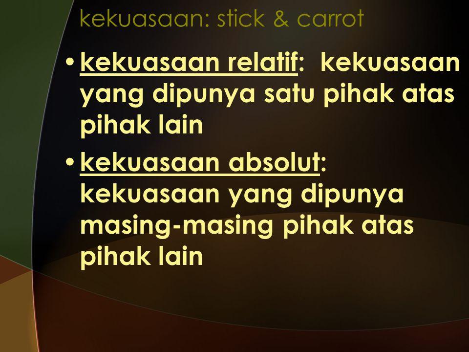 kekuasaan: stick & carrot