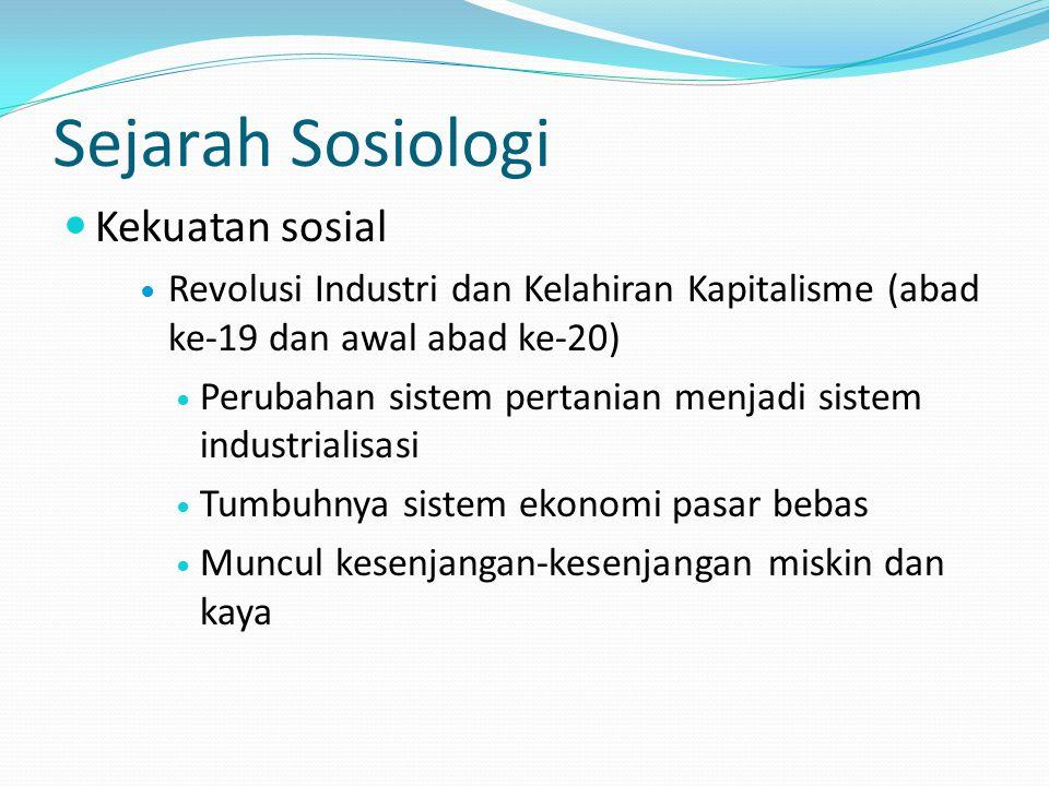 Sejarah Sosiologi Kekuatan sosial