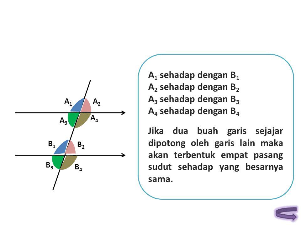 A1 sehadap dengan B1 A2 sehadap dengan B2 A3 sehadap dengan B3