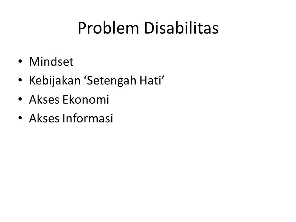 Problem Disabilitas Mindset Kebijakan 'Setengah Hati' Akses Ekonomi
