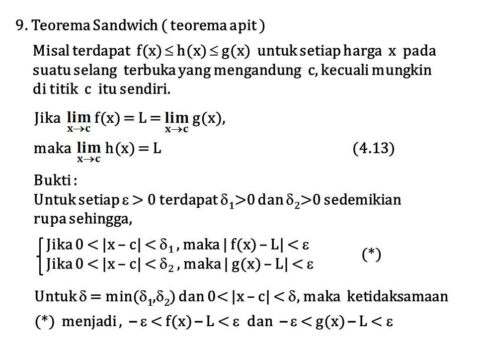 9. Teorema Sandwich ( teorema apit )