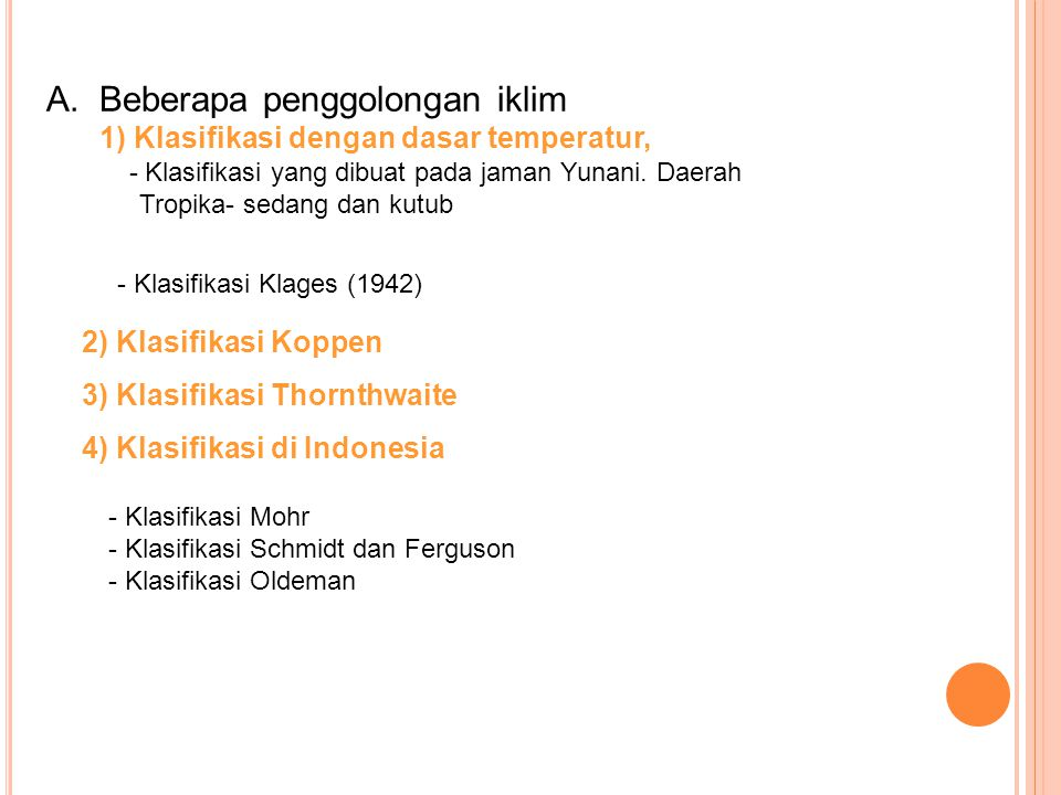 3) Klasifikasi Thornthwaite