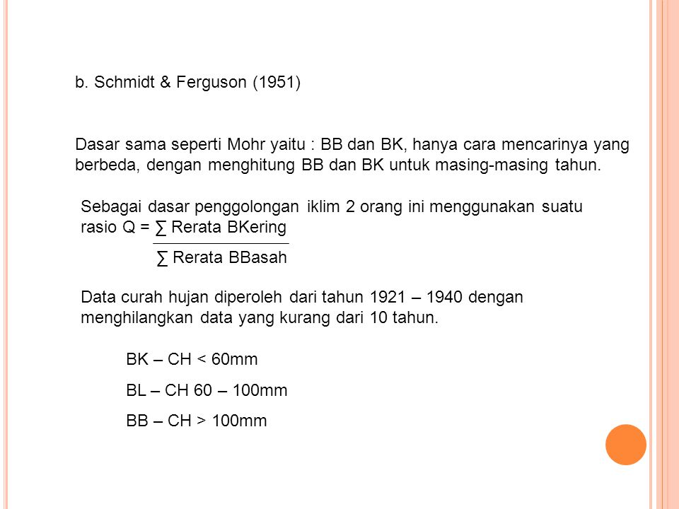 b. Schmidt & Ferguson (1951)