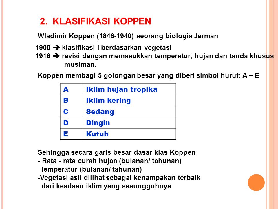 V klasifikasi iklim iklim ppt download klasifikasi koppen wladimir koppen 1846 1940 seorang biologis jerman 1900 ccuart Images