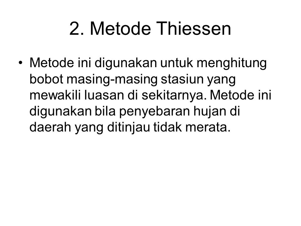 2. Metode Thiessen