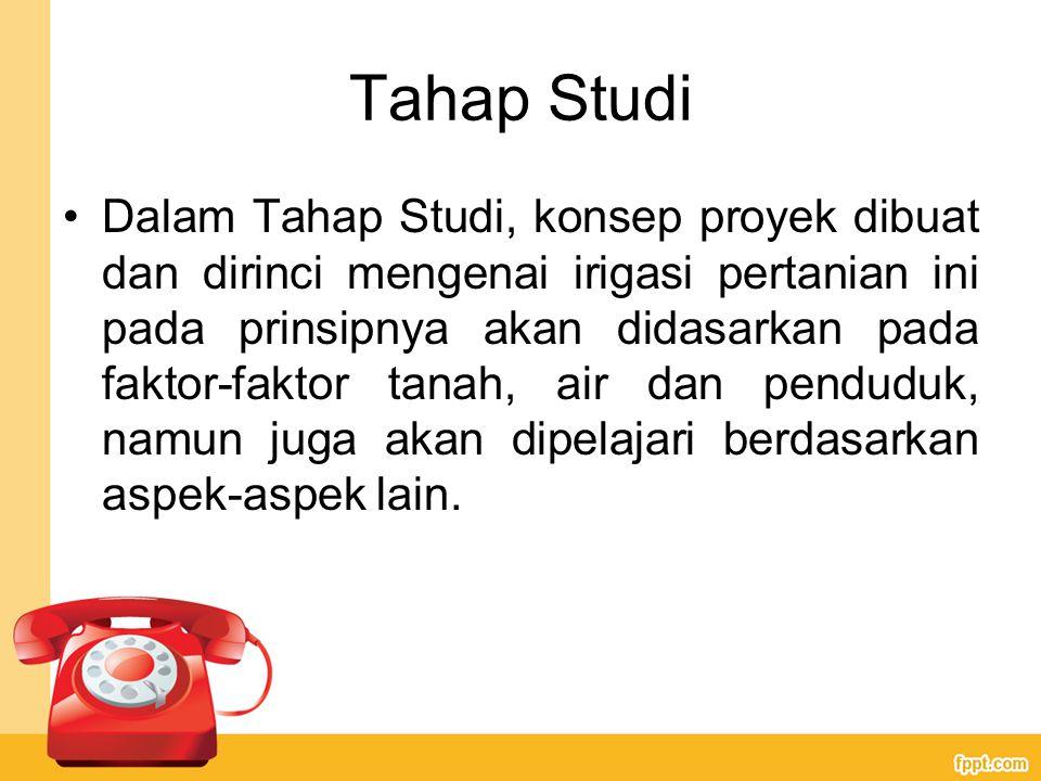 Tahap Studi