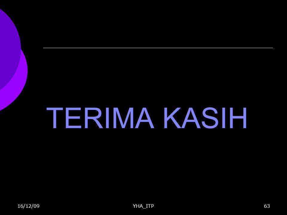 TERIMA KASIH 16/12/09 YHA_ITP