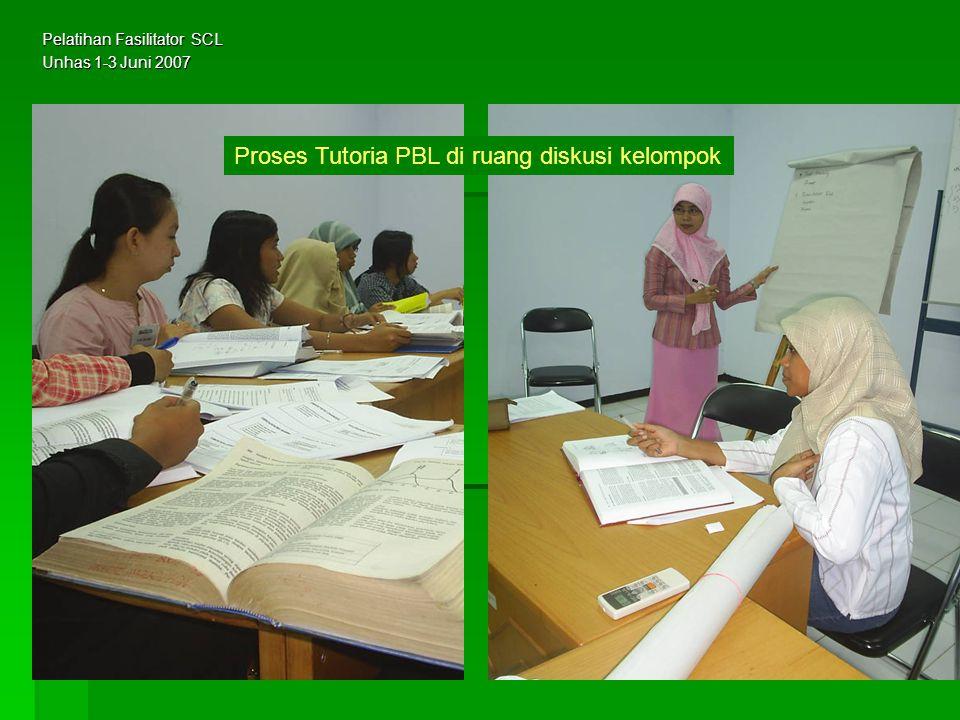 Proses Tutoria PBL di ruang diskusi kelompok