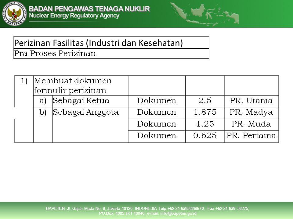 Perizinan Fasilitas (Industri dan Kesehatan)