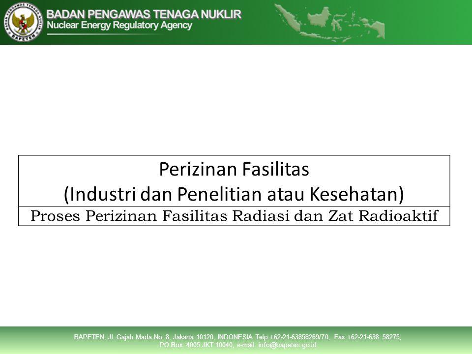 (Industri dan Penelitian atau Kesehatan)