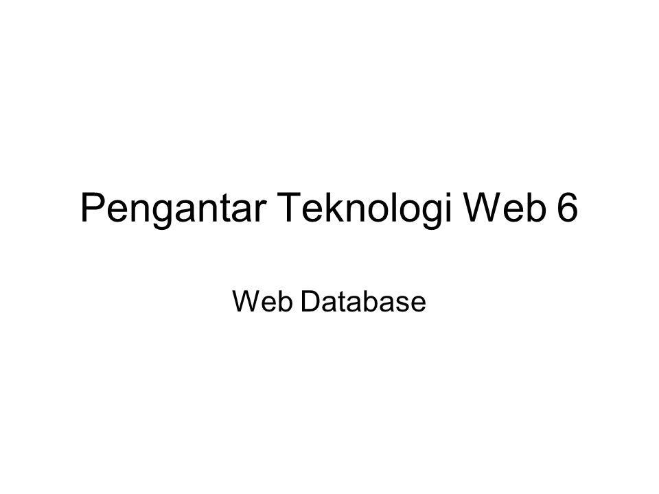 Pengantar Teknologi Web 6