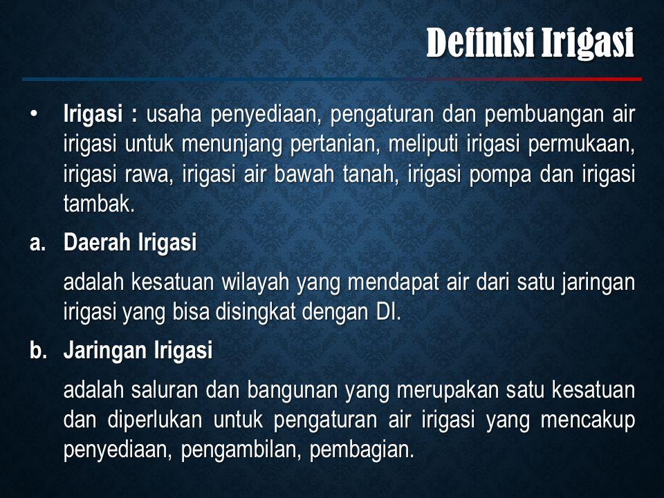 Definisi Irigasi