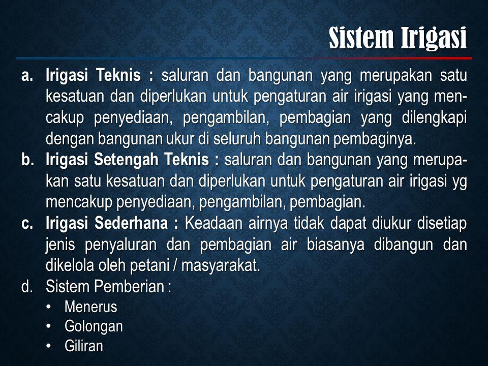 Sistem Irigasi