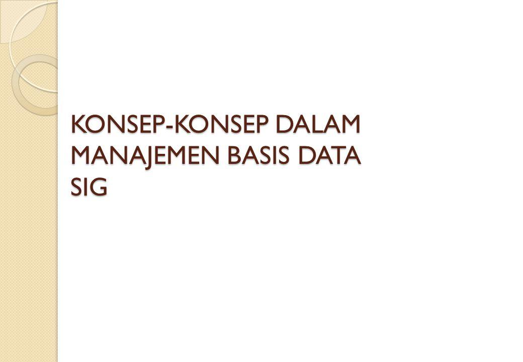 KONSEP-KONSEP DALAM MANAJEMEN BASIS DATA SIG
