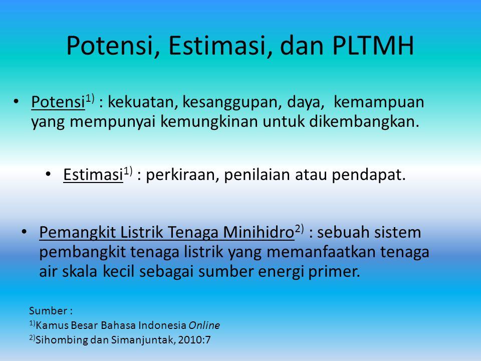 Potensi, Estimasi, dan PLTMH