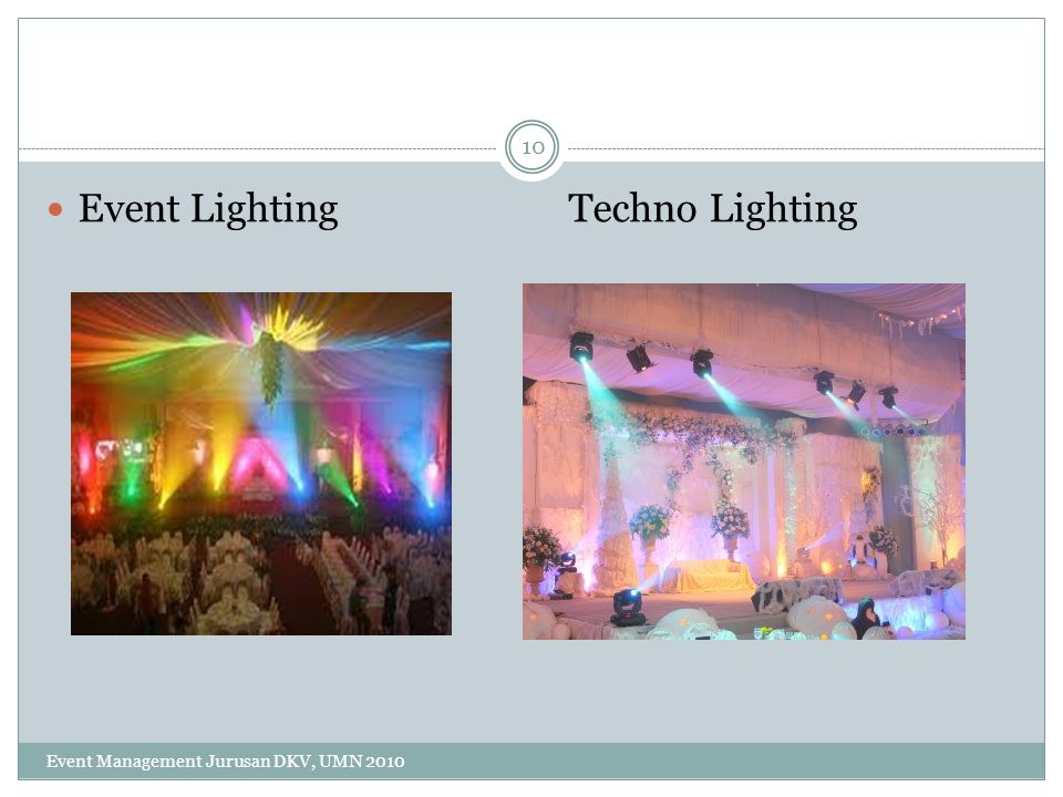 Event Lighting Techno Lighting