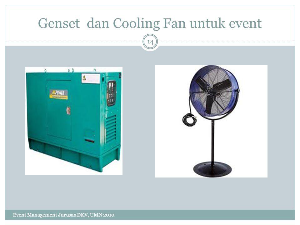 Genset dan Cooling Fan untuk event