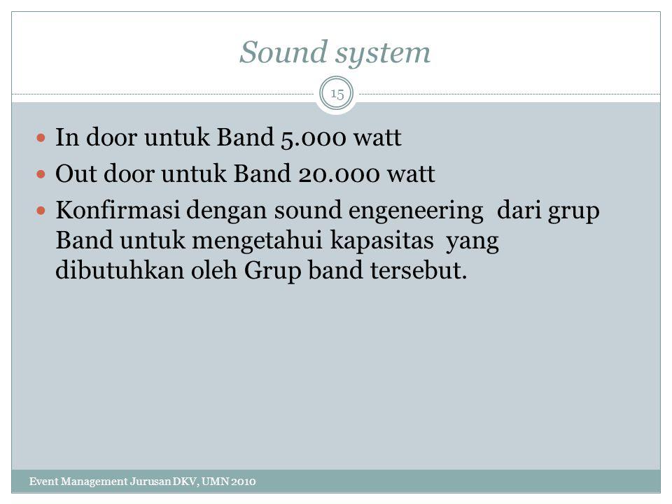 Sound system In door untuk Band 5.000 watt