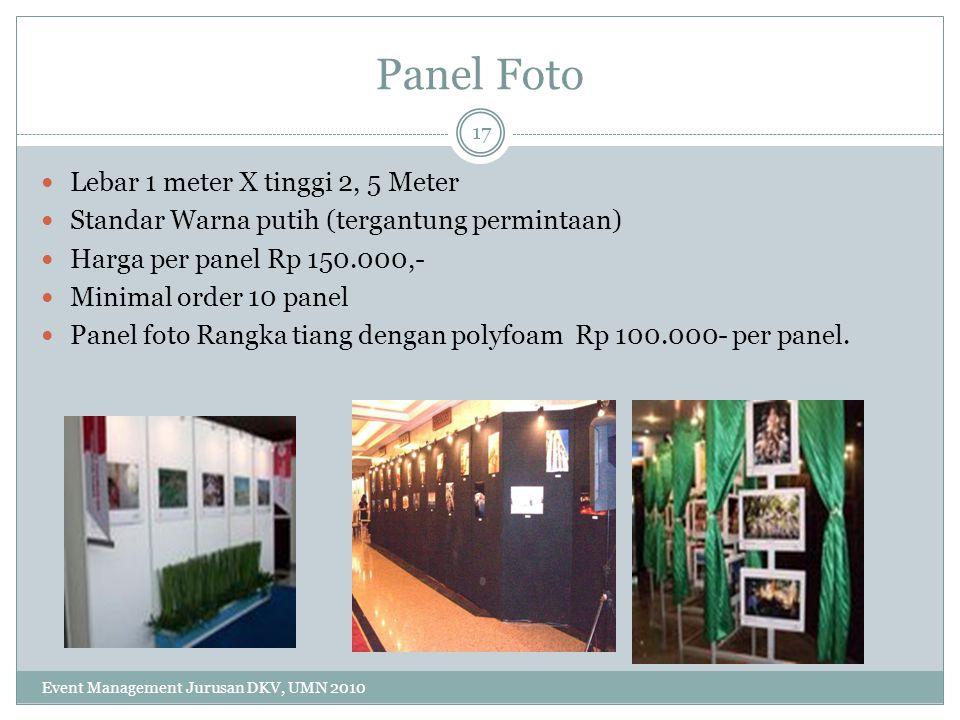 Panel Foto Lebar 1 meter X tinggi 2, 5 Meter