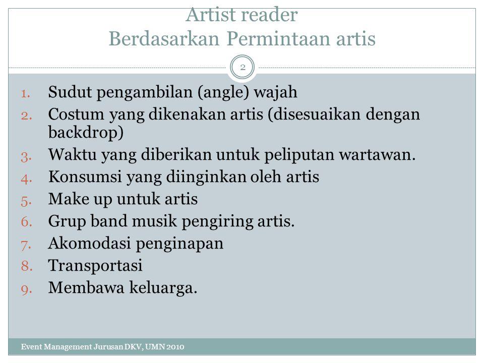 Artist reader Berdasarkan Permintaan artis