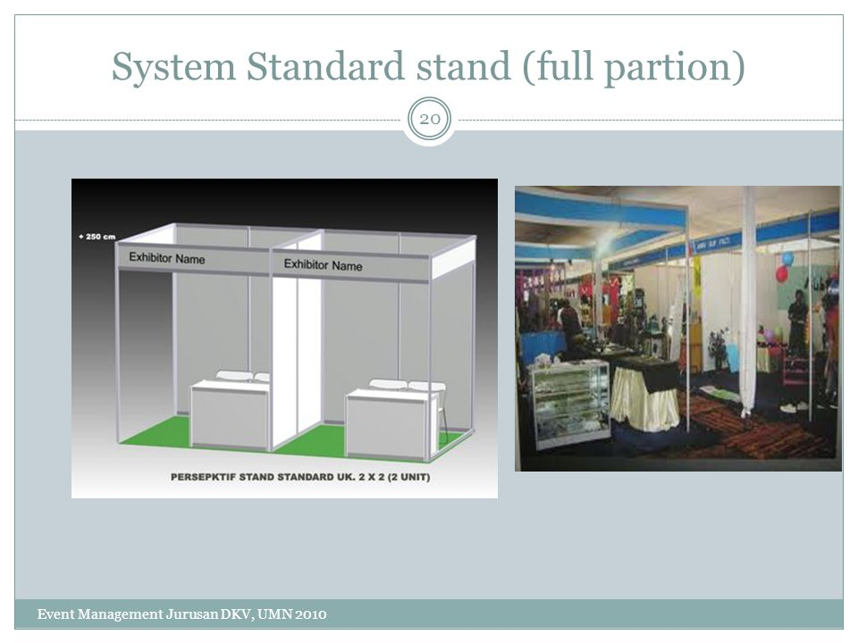System Standard stand (full partion)
