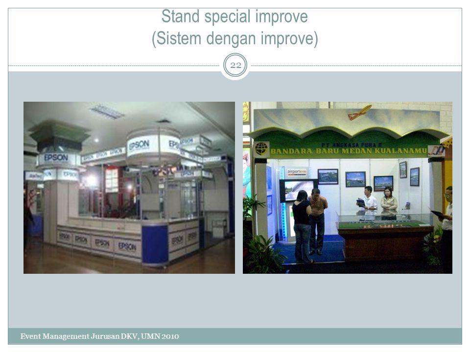 Stand special improve (Sistem dengan improve)