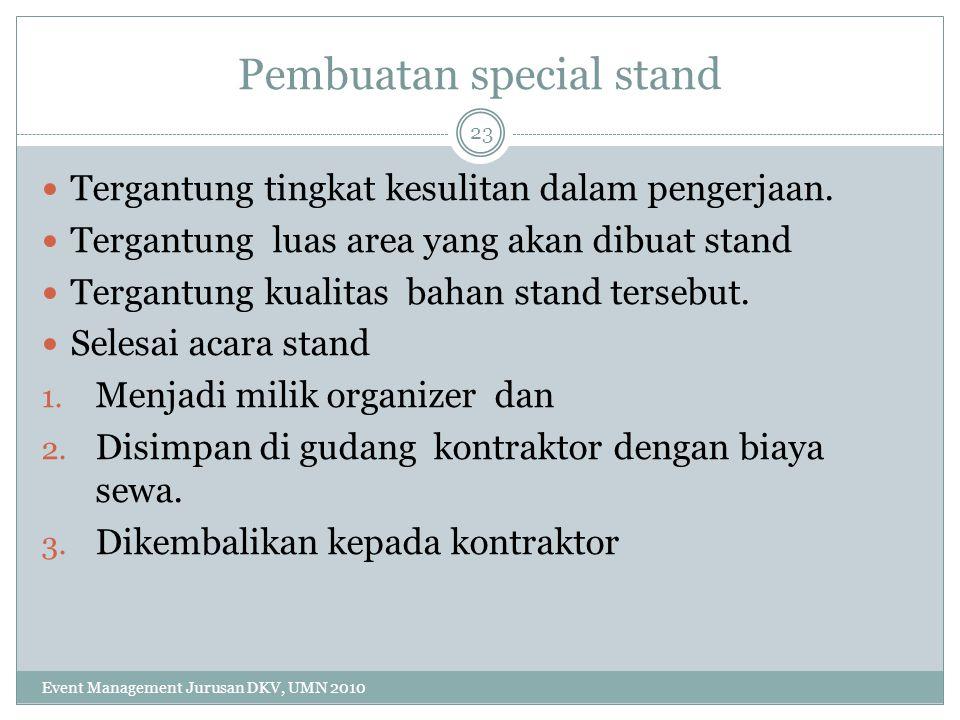 Pembuatan special stand