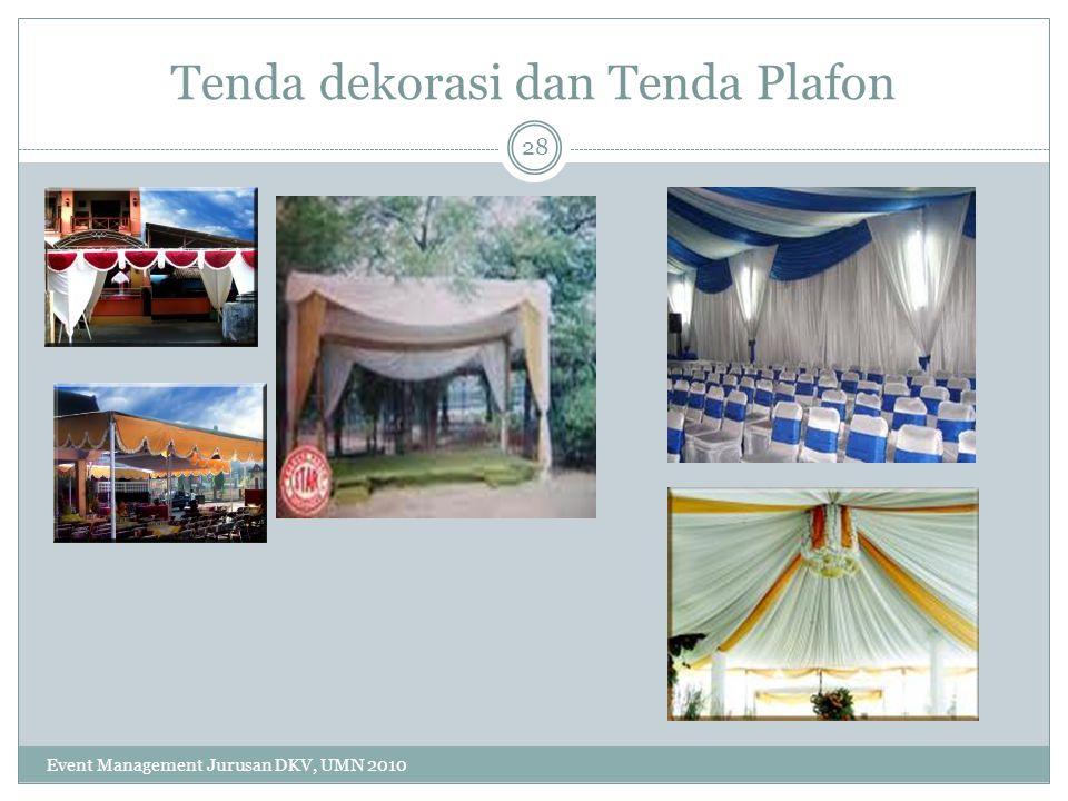 Tenda dekorasi dan Tenda Plafon
