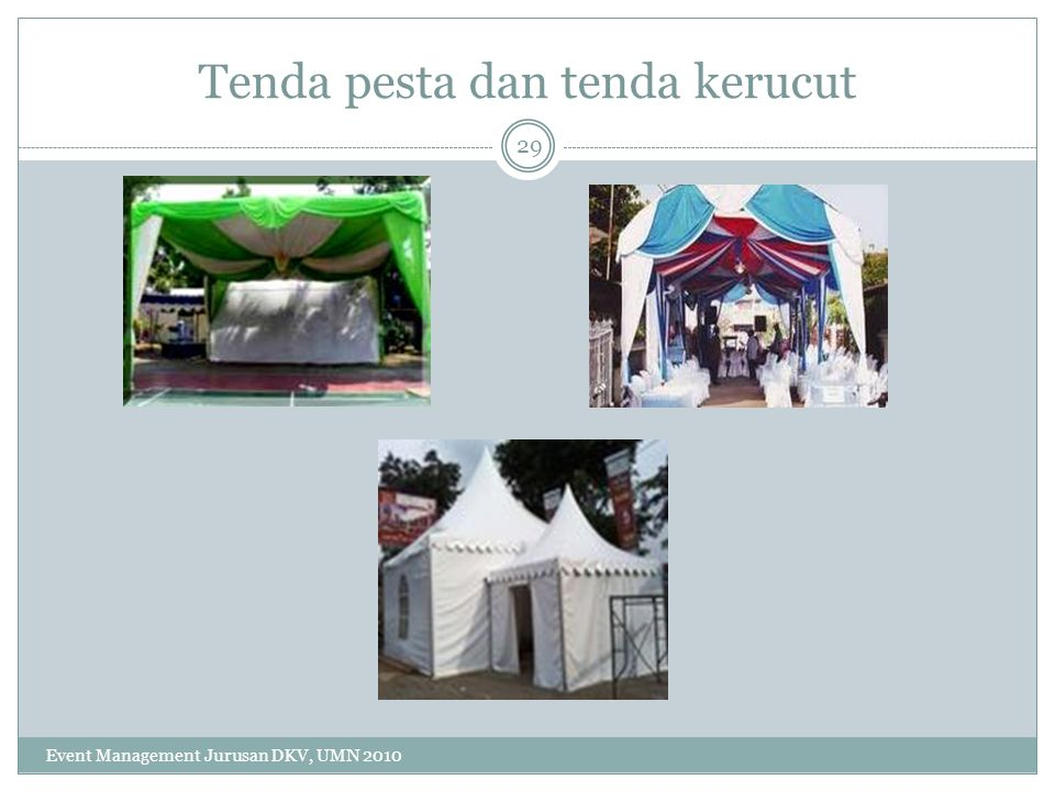 Tenda pesta dan tenda kerucut