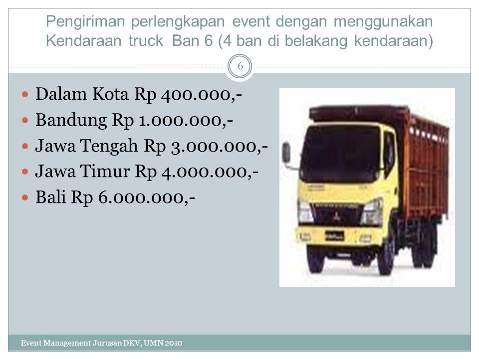 Dalam Kota Rp 400.000,- Bandung Rp 1.000.000,-