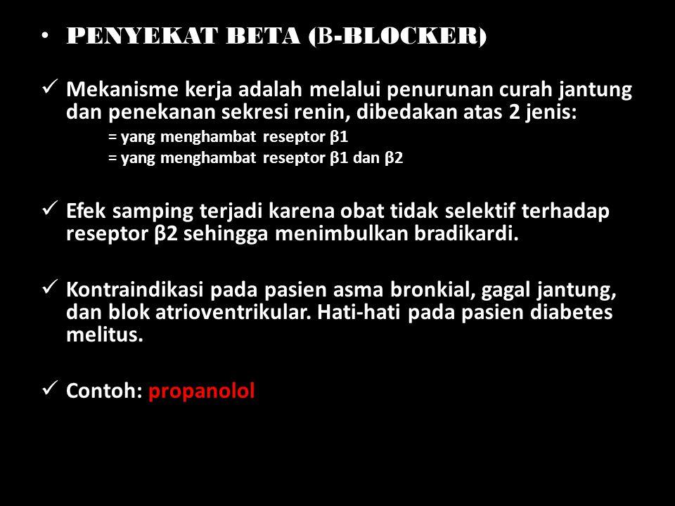 PENYEKAT BETA (Β-BLOCKER)
