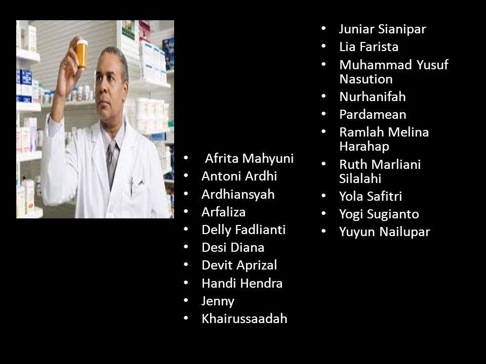 Juniar Sianipar Lia Farista. Muhammad Yusuf Nasution. Nurhanifah. Pardamean. Ramlah Melina Harahap.