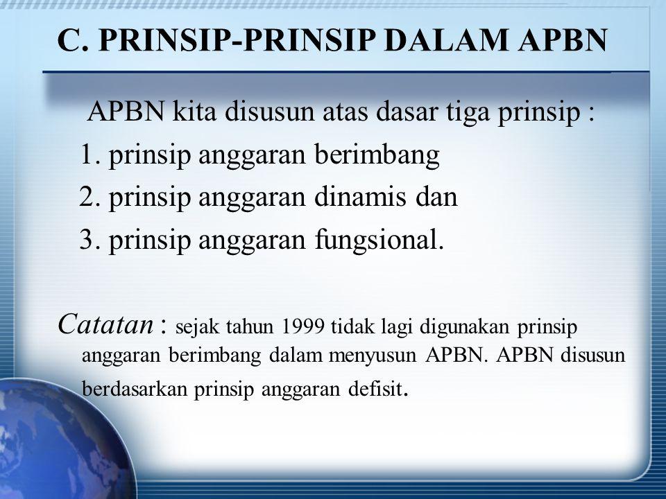 C. PRINSIP-PRINSIP DALAM APBN