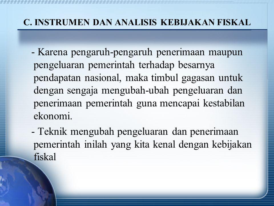 C. INSTRUMEN DAN ANALISIS KEBIJAKAN FISKAL