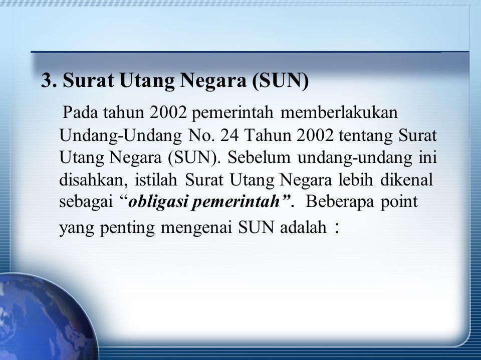 3. Surat Utang Negara (SUN)