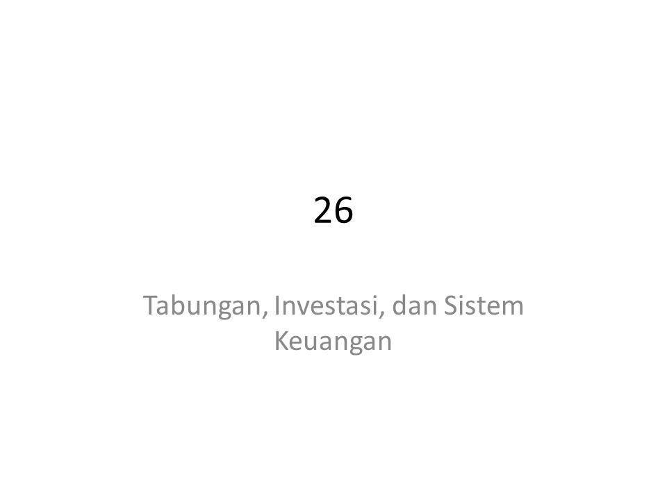 Tabungan, Investasi, dan Sistem Keuangan