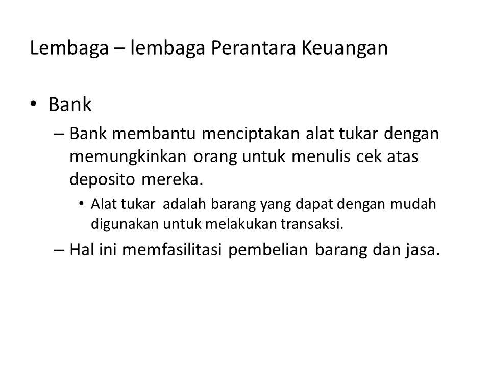 Lembaga – lembaga Perantara Keuangan