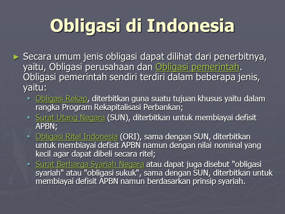 Obligasi di Indonesia